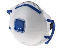 Flat Fold Disposable FFP2 Face Mask  , Comfortable Dust Mask FFP2 With Valve